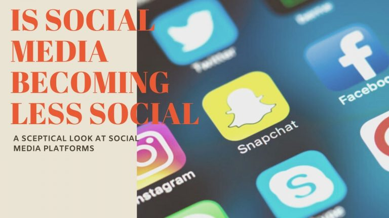 Is Social Media Becoming Less Social?